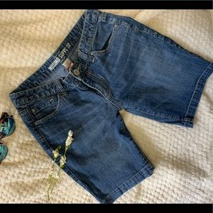 Mossimo -Bermuda Jean shorts-fit 6